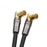 XO - 1m Male to Male Shielded TV/AV Aerial Coaxial Cable Gold Plated Connectors & Metal Plug - Black - hdmicouk