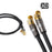 XO - 2 M Coax (Male) Right Angle to Coax (Male) Right Angle Cable - Black