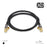 XO - 3m Male to Male Shielded TV/AV Aerial Coaxial Cable - Black - hdmicouk
