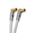 XO - Male to Male Shielded TV/AV Gold Plated Aerial Coaxial Cable - White - hdmicouk