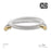 XO - 3m Male to Male Shielded TV/AV Aerial Coaxial Cable - White - hdmicouk