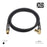 XO - Male to Male Shielded TV/AV Aerial Coaxial Cable- Black - hdmicouk