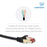 Cablesson Ethernet Cable 7.5m Cat7 Gigabit Lan Network RJ45 High Speed Patch Cord Design 10Gbps for 600Mhz/s STP Molded for Switch, Router, Modem,Patch Panel,PC and more, Black