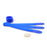 Cablesson Hook and Loop Nylon Velcro Cable Ties - Chunky Pack of 20 - Blue - hdmicouk