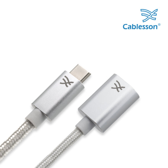 Cablesson Maestro USB C to USB 3.0 A Female Extension Cable,  for New Macbook and More Type C devices, 1.6ft (0.5m)
