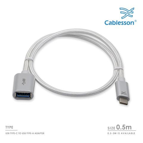 Cablesson Maestro USB C to USB 3.0 A Female Extension Cable 0.5m - 3m - hdmicouk