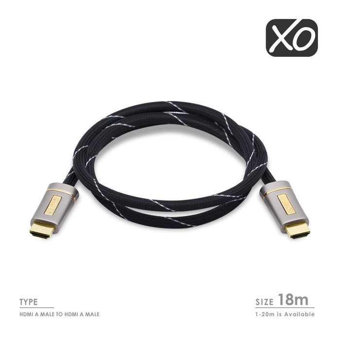 XO PLATINUM HDMI TO HDMI Cable Version High-Speed with ETHERNET - 18m - hdmicouk