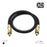 XO 1.5m Optical TOSLINK Digital Audio SPDIF Cable - Black - hdmicouk
