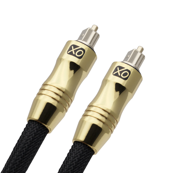 XO 2m Optical TOSLINK Digital Audio SPDIF Cable - Black - hdmicouk