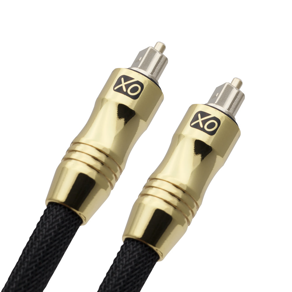 XO 4m Optical TOSLINK Digital Audio SPDIF Cable - Black - hdmicouk