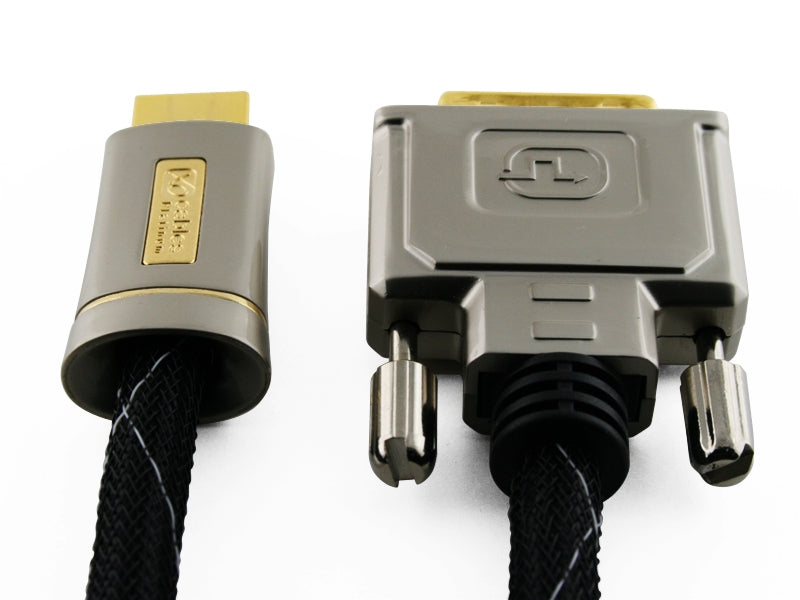 XO Platinum 7.5m HDMI to DVI HIGH SPEED Cable - 1080p (Full HD) / v1.3 / Video / DVI-D (Dual Link) 24+1 Pins / 24k Gold Plated - hdmicouk