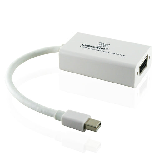 Cablesson Mini DisplayPort to VGA Adapter With Thunderbolt Port Compatible - Gold Plated - hdmicouk