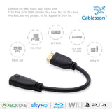 Cablesson Basic 1.5m High Speed HDMI Extension Cable (HDMI Type A, HDMI 2.1/2.0b/2.0a/2.0/1.4) - 4K, 3D, UHD, ARC, Full HD, Ultra HD, 2160p, HDR - for PS4, Xbox One, LCD, LED, UHD, 4k TVs - Black
