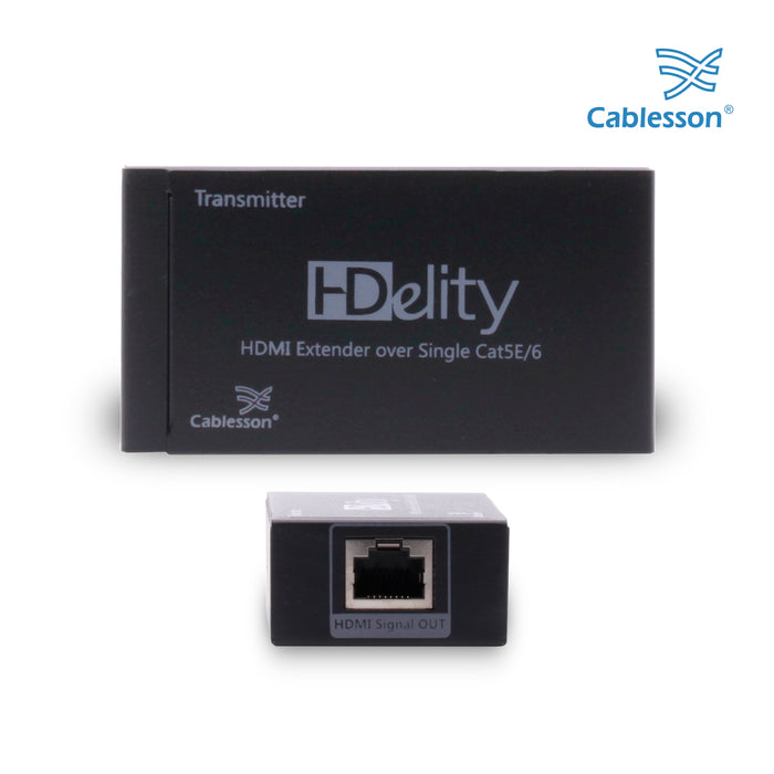 Cablesson - HDeilty HDMI Extender over Single CAT5e/6 - 1080p HDMI - HDMICOUK