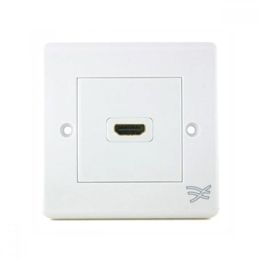 Cablesson HDMI Wall Plate Dual Connector 100/100 - White - hdmicouk
