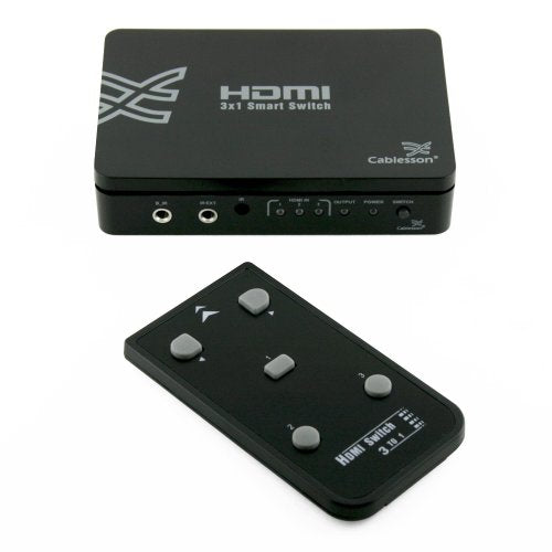 Cablesson Basic 3 Port HDMI SWITCH Hub Box - hdmicouk