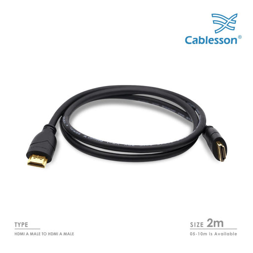 Cablesson Basic 2m High Speed HDMI Cable Black - hdmicouk