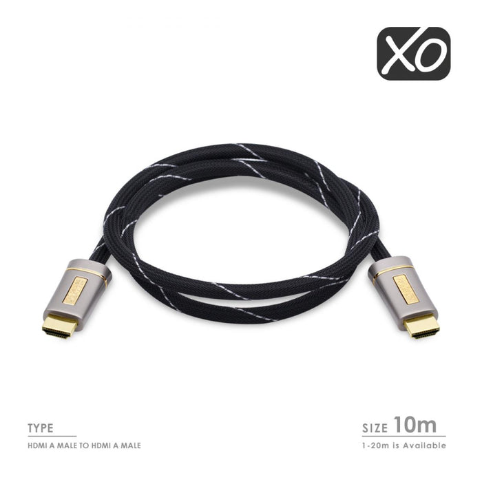 XO Platinum 10m High Speed HDMI Cable -Silver - hdmicouk