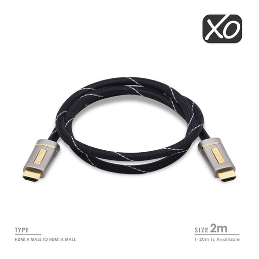 XO 2m PLATINUM HDMI TO HDMI High-Speed with ETHERNET Cable - hdmicouk