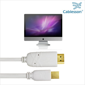Cablesson 2 Pack Mini DP to HDMI Male Cable - 1m
