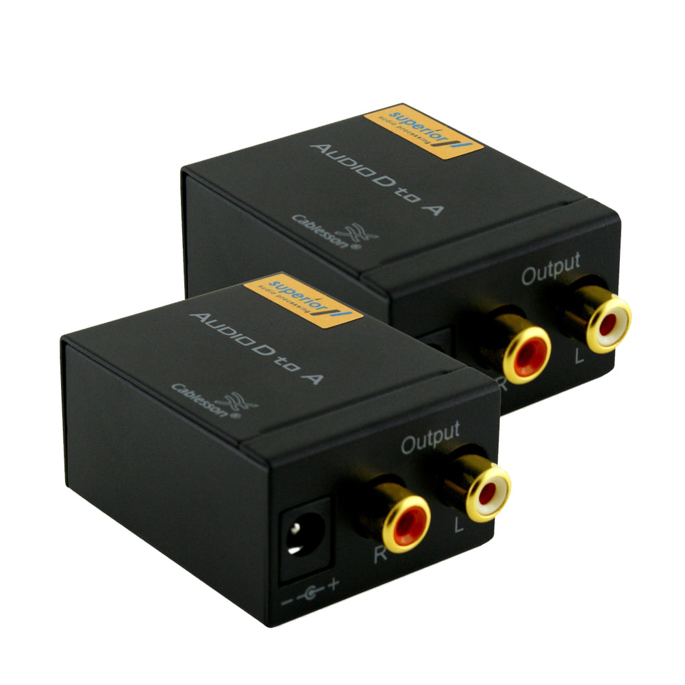 2 Pack Digital to Analogue Audio Converter