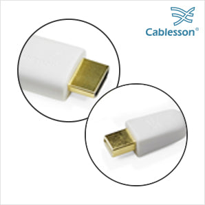 Cablesson 2 Pack Mini DP to HDMI Male Cable - 2m