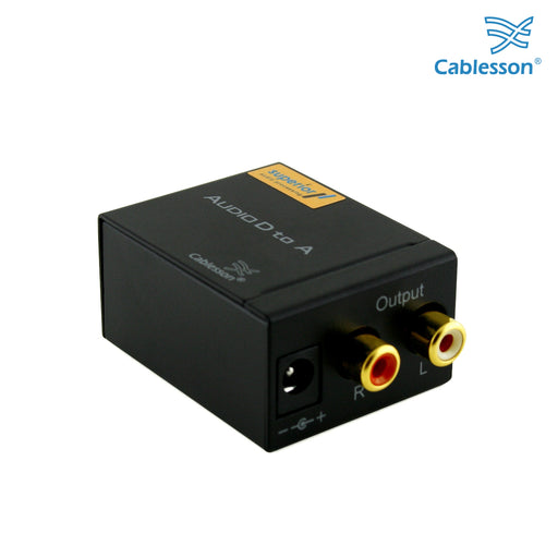 Cablesson Digital to Analogue Audio Converter - 2 Pack - Black