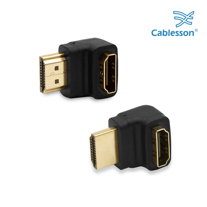 Cablesson HDMI 2.0 Adapter - Right Angle 90 & 270 Degree - 2 Pack