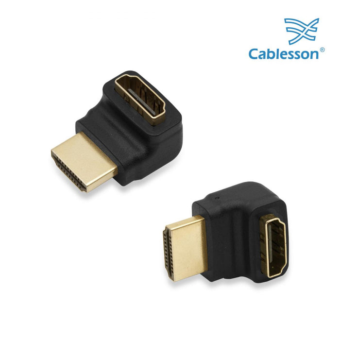 2 Pack Cablesson Right Angle 270 HDMI Adapter