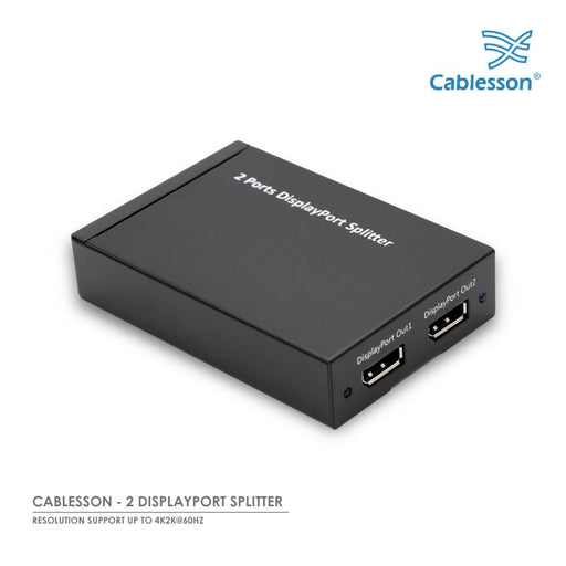 Cablesson 1x2 Displayport Splitter - DP 1.2a