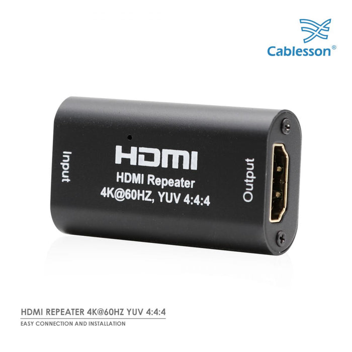 Cablesson - HDMI REPEATER 4K@60HZ 2.0 HDMI Signal Booster - 3D Repeater Amplifier UHD HDCP HDMI female to HDMI female - up to 40m