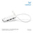 Cablesson USB-C to 4xUSB3.0HUB Cable L=250mm - White