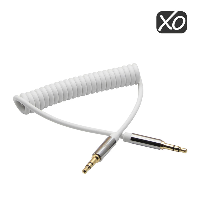 XO - 3.5mm Male to Male 3M (with spring cable) - White