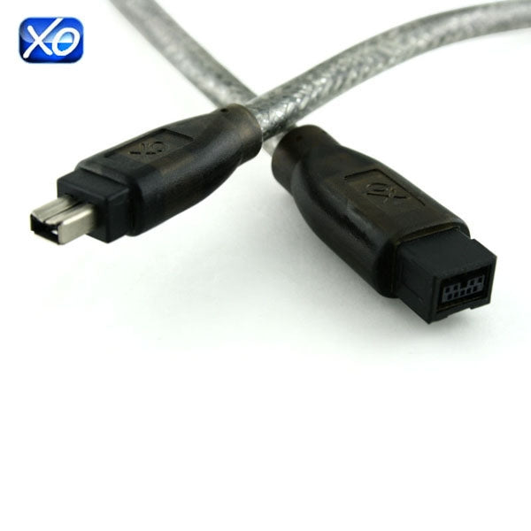 XO FireWire 800 to 400 Cable - 2m - 9 pin (male) to 4 pin (male) - IEEE 1394b (Compatible with MAC and PC) - 2 Metres PRO FusionXLS Cable - hdmicouk