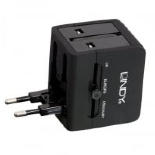 LINDY USB Mains Plug Travel Adapter
