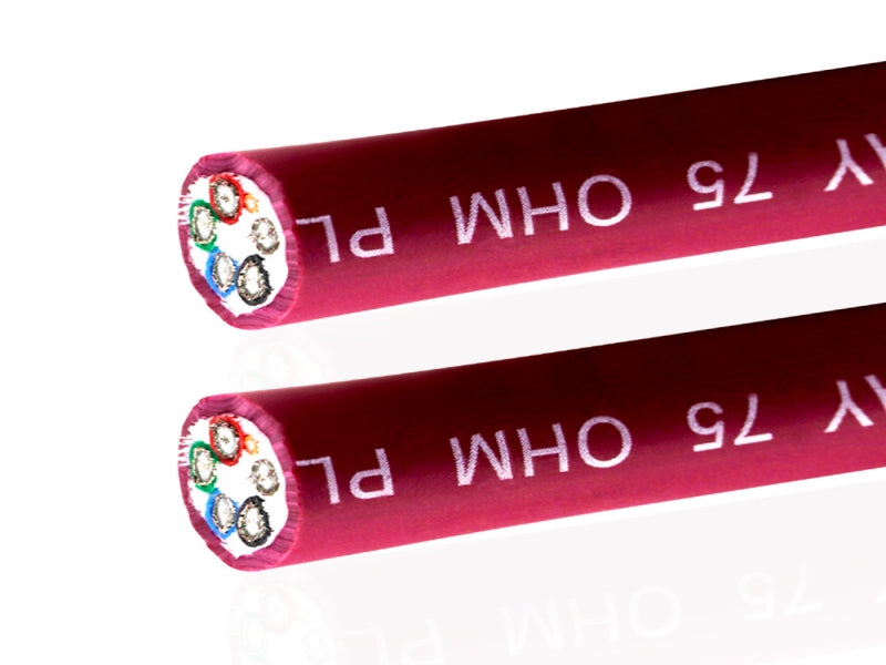 Van Damme Red Series Plasma Grade Mini Coaxial Video Multicore Cable 5 Way 75 Ohm 268-305-020 125 Metre / 125M - hdmicouk