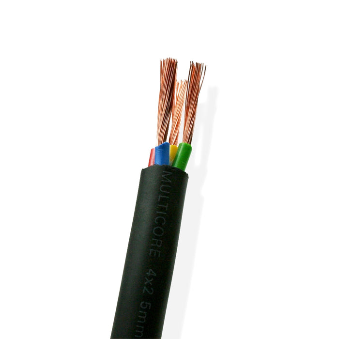 Van Damme Black Series Tour Grade 4 x 2.50mm Multicore Speaker Cable, Black 268-542-000 5 Metre / 5M - hdmicouk