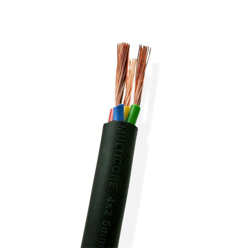 Van Damme Black Series Tour Grade 4 x 2.50mm Multicore Speaker Cable, Black 268-542-000 150 Metre / 150M - hdmicouk
