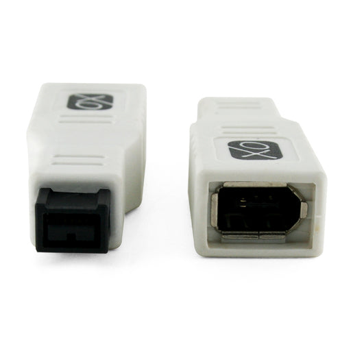FireWire 400 to 800 Adapter by XO® - 6 pin (female) port to 9 pin (male) FW 800 Connector ** Ultra Compact ** - White - hdmicouk