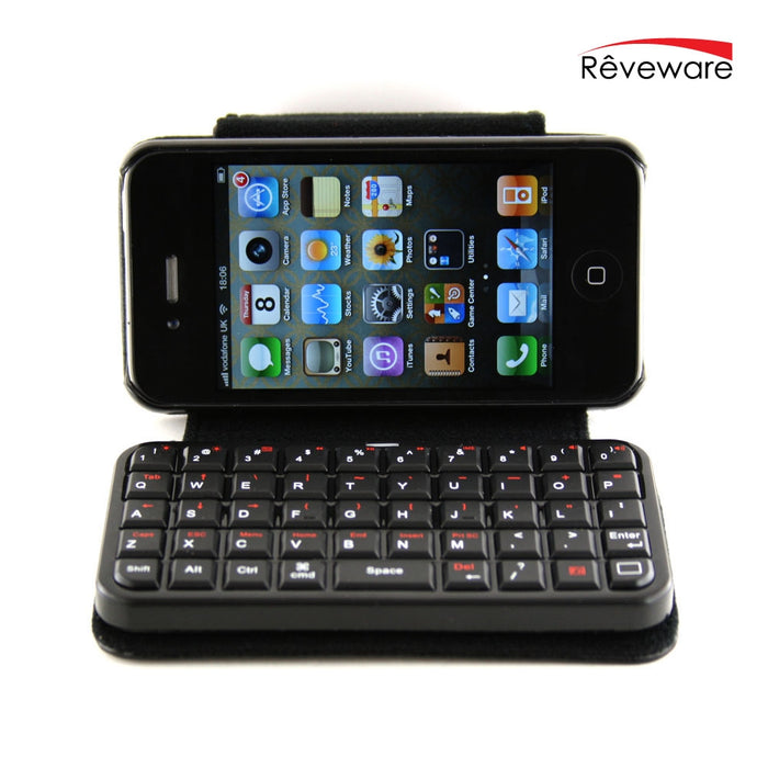 New Mini Bluetooth 2.0 Keyboard & Cover Case For iPhone 4.0 – Wireless - hdmicouk
