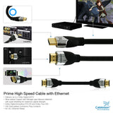 Cablesson Prime 2m High Speed HDMI Cable (HDMI Type A, HDMI 2.1/2.0b/2.0a/2.0/1.4) - 4K, 3D, UHD, ARC, Full HD, Ultra HD, 2160p, HDR - for PS4, Xbox One, Wii, Sky Q, LCD, LED, UHD, 4k TVs - Black