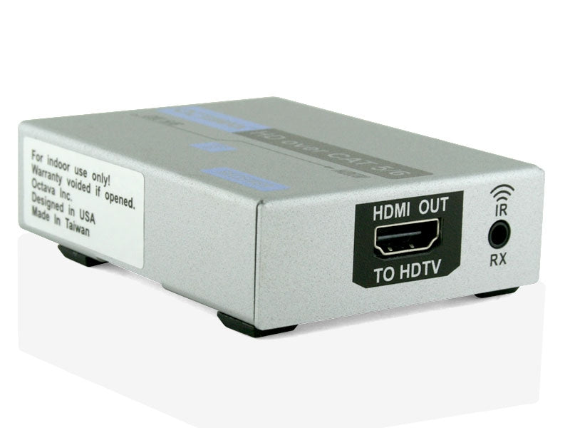 Octava HDCATIR-RX-UK HDMI CAT5/6 Receiver with IR Passthru - hdmicouk