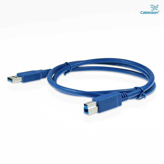 Cablesson USB Version 3.0 A Male to B Male Cable 3M - HDMICOUK