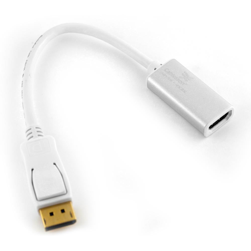 Cablesson Displayport (Male) (DP) to HDMI (Female) cable High Speed incl. audio transmission | upto 4k | Displayport (plug M) to HDMI (plug A) | certified | Apple and PC - White - hdmicouk