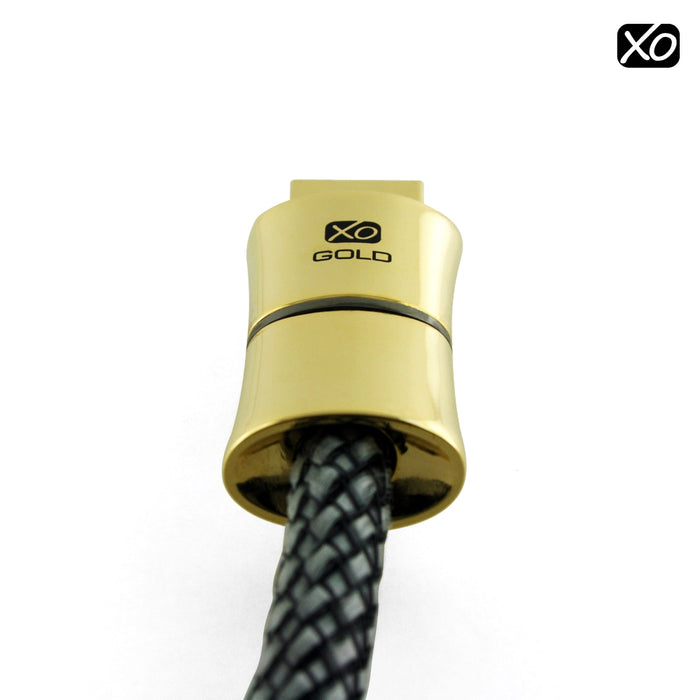 XO GOLD EDITION - 1m / 1 Metre HDMI Cable with Ethernet for XBOX 360, SONY PLAY STATION 3 (PS3), DVD, BLU-RAY, HDTV *FULL HD 4k2k New 1.4 Version High-Speed with ETHERNET and 3D 10.2GPS* Sound & Vision - hdmicouk