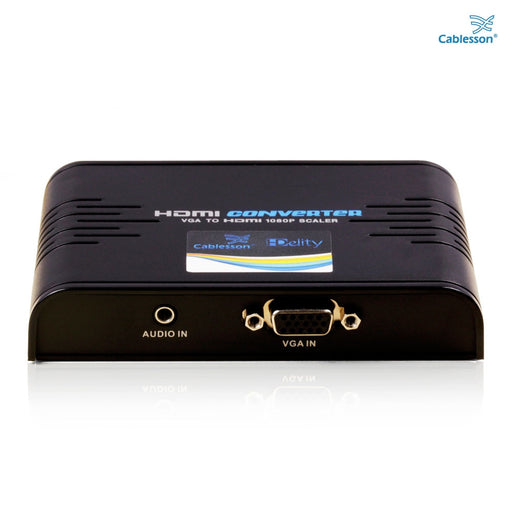 Cablesson HDelity VGA and Audio to HDMI Converter  - Supports 1080p Full HD - Connect PC Computer SVGA video + R/L Audio to HDMI monitor or HDTV or Projector - Lifetime Warranty - hdmicouk