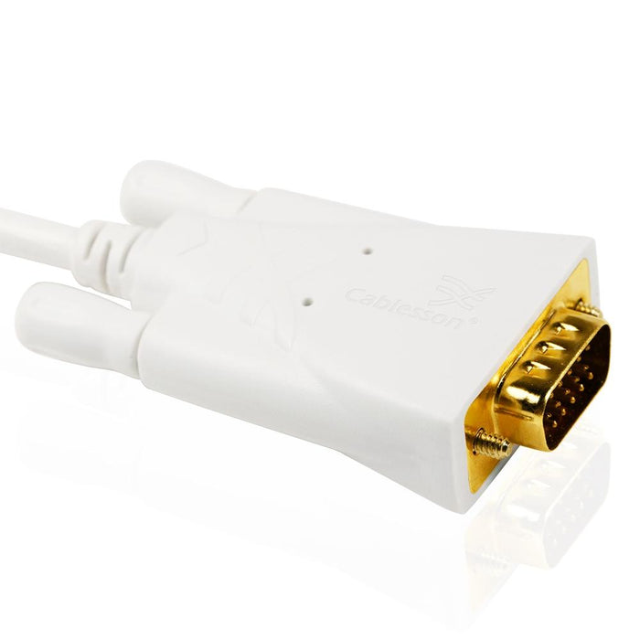 Cablesson 3m Mini DisplayPort Male to VGA Male Cable - Gold Plated - hdmicouk