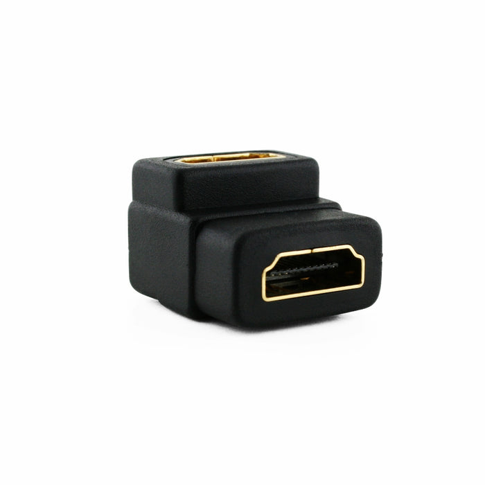 Cablesson Right-Angle 90 Degree HDMI Coupler (Joiner) Adapter - Black - hdmicouk