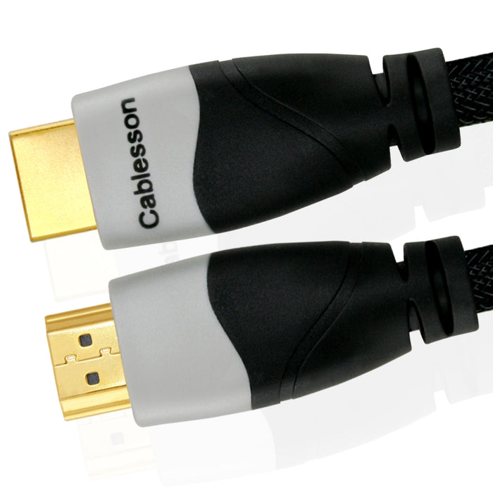 Cablesson Ikuna 3m High Speed HDMI Cable (HDMI Type A, HDMI 2.1/2.0b/2.0a/2.0/1.4) - 4K, 3D, UHD, ARC, Full HD, Ultra HD, 2160p, HDR - for PS4, Xbox One, Wii, Sky Q, LCD, LED, UHD, 4k TVs - Black