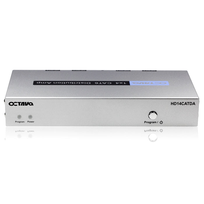 Octava HD14CATDA/4 Dtribuistion Amp + 3 Zone Receiver (CAT5/6) (1080p, SKY HD, Virgin HD, Freeview HD, XBOX 360, XBOX One, PS3, PS4, 3D) - hdmicouk